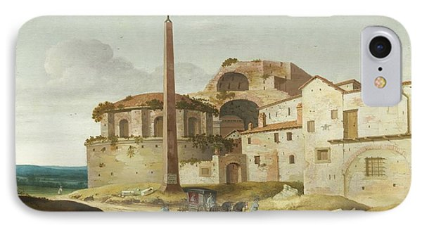 Church Of Santa Maria Della Febbre - Rome IPhone Case by Pieter Jansz Saenredam
