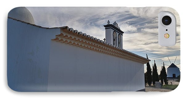 Church Of St. Anthony And Windmill In Portugal IPhone Case by Angelo DeVal