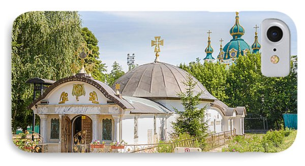 Church Of St. Nicholas Of Myra, In Kiev IPhone Case by Alain De Maximy