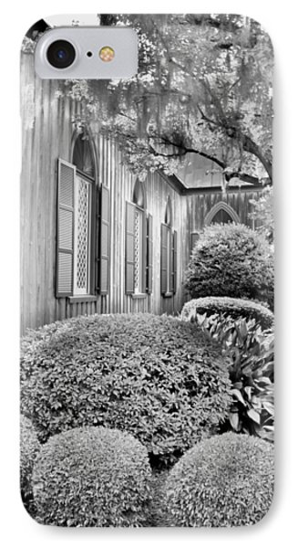 Church Of The Cross Bluffton Sc Black And White IPhone Case