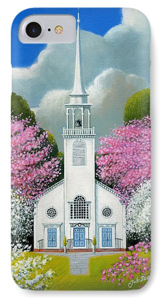 Church Of The Dogwoods Phone Case by John Deecken