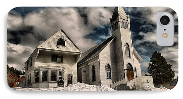 IPhone Case featuring the photograph Church Of The Immaculate Conception Roslyn Wa by Jeff Swan