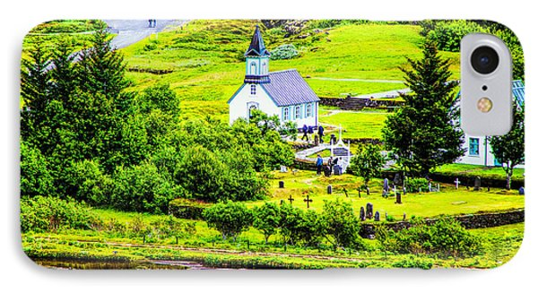 Church On The Green IPhone Case by Rick Bragan