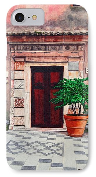Church Side Door - Taormina Sicily IPhone Case