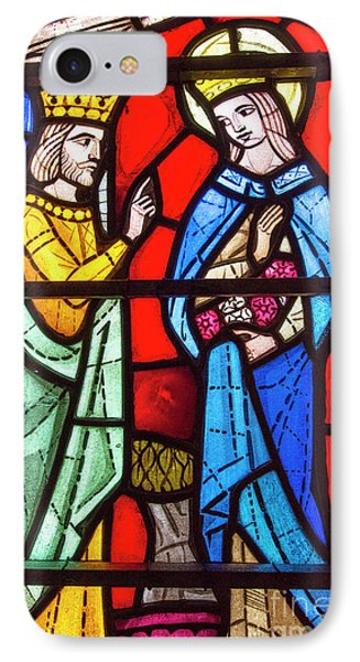 Church Stained Glass Window IPhone Case by Juli Scalzi