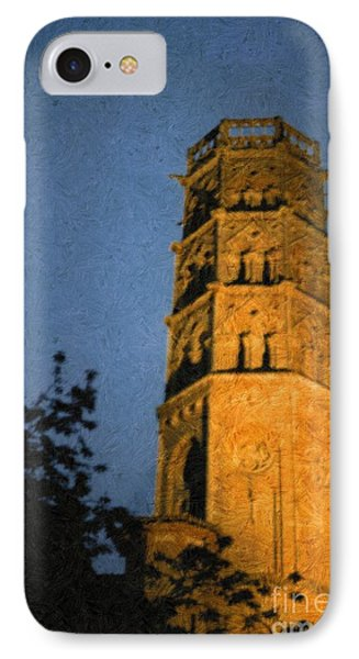 IPhone Case featuring the photograph Church Steeple by Jean Bernard Roussilhe