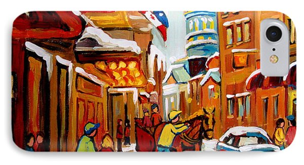 Church Street In Winter Phone Case by Carole Spandau