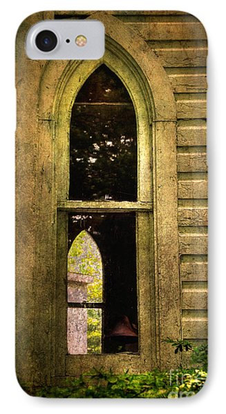 Church Window Church Bell Phone Case by Lois Bryan