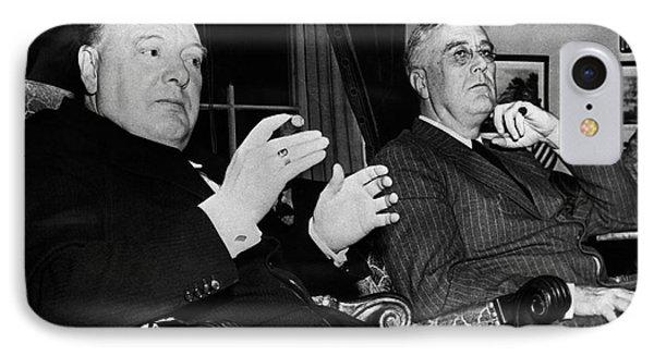 Churchill & Roosevelt Phone Case by Granger