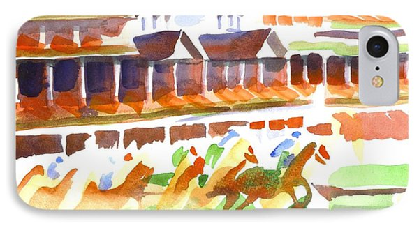 Churchill Downs Watercolor IPhone Case by Kip DeVore
