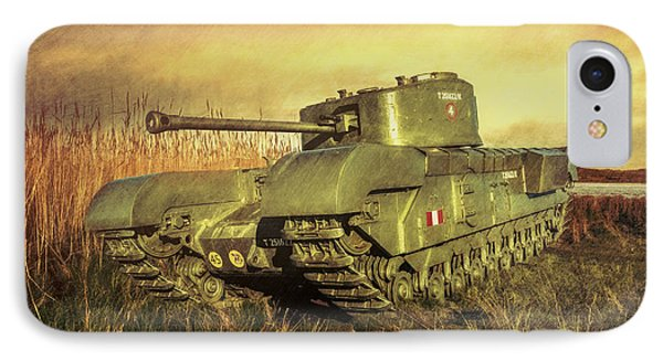 Churchill Tank IPhone Case by Roy McPeak