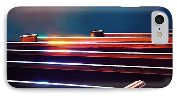 Churchlight -- Pews Under Stained Glass IPhone Case by Wendy J St Christopher