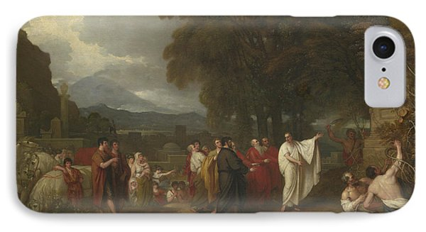 Cicero Discovering The Tomb Of Archimedes IPhone Case by Benjamin West