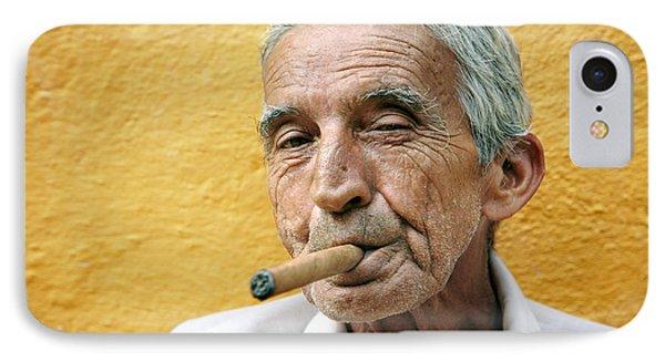 Cigar Smoking - Trinidad - Cuba IPhone Case by Rod McLean