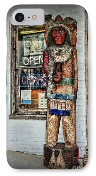 IPhone Case featuring the photograph Cigar Store Indian by Paul Ward