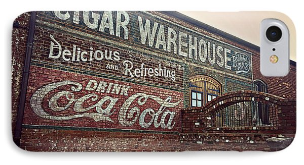 Cigar Warehouse Greenville Sc IPhone Case by Kathy Barney