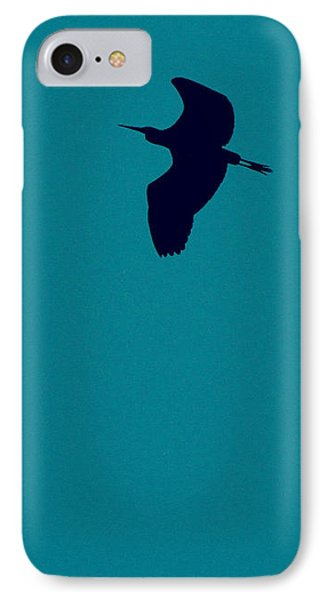 IPhone Case featuring the digital art Cigogne En Silhouette by Marc Philippe Joly