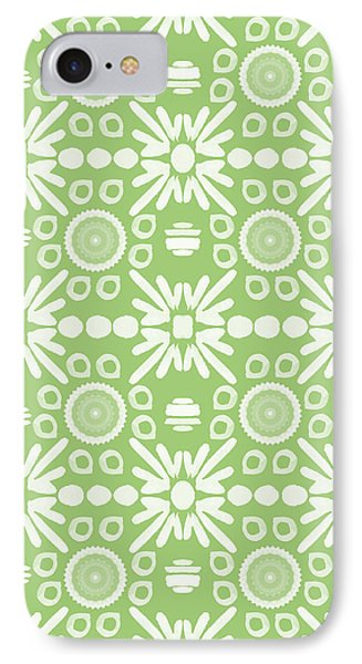 Repeat iPhone 7 Case - Cilantro- Green And White Art By Linda Woods by Linda Woods