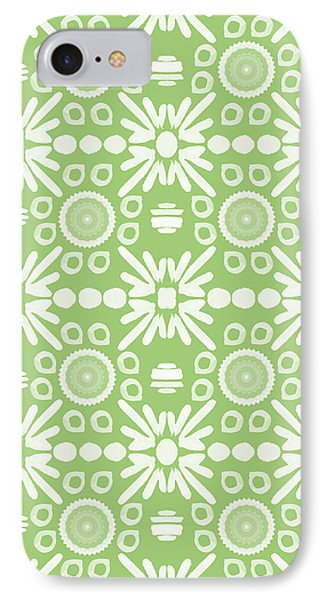 Cilantro- Green And White Art By Linda Woods IPhone Case by Linda Woods