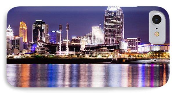 Cincinnati At Night Downtown City Buildings IPhone Case by Paul Velgos