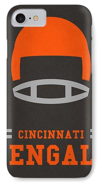 Cincinnati Bengals Vintage Art IPhone Case by Joe Hamilton