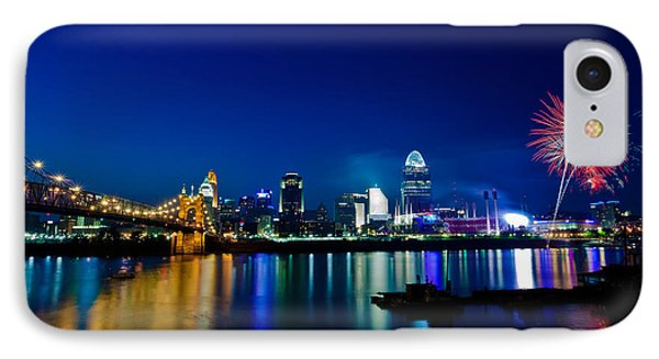 Cincinnati Boom IPhone Case by Keith Allen