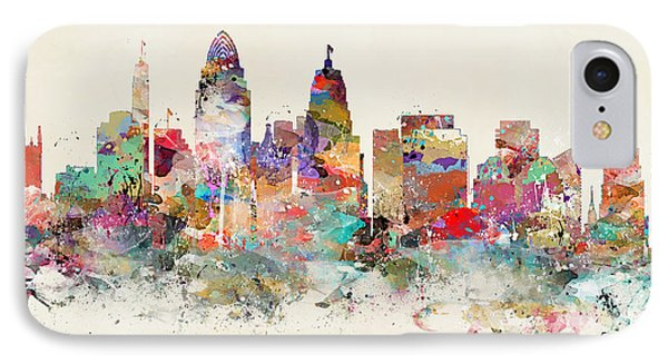 Cincinnati City Skyline IPhone Case by Bri B