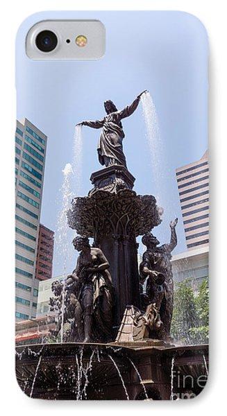 Cincinnati Fountain Tyler Davidson Genius Of Water Phone Case by Paul Velgos