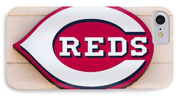 Cincinnati Reds Logo Sign Phone Case by Paul Velgos