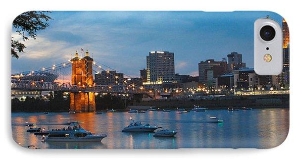 Cincinnati River Front Phone Case by John Mullins