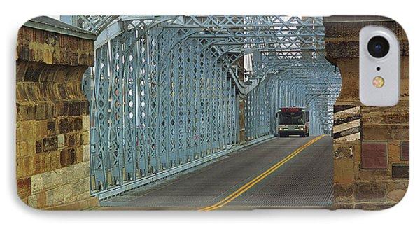 Cincinnati - Roebling Bridge 1 IPhone Case by Frank Romeo