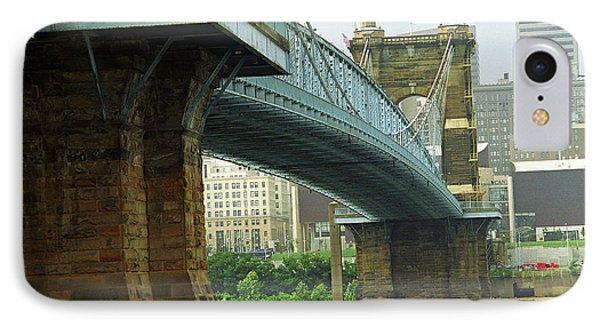 Cincinnati - Roebling Bridge 2 IPhone Case by Frank Romeo