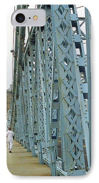 Cincinnati - Roebling Bridge 3 IPhone Case by Frank Romeo