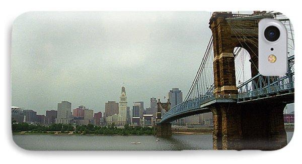 Cincinnati - Roebling Bridge 6 IPhone Case by Frank Romeo