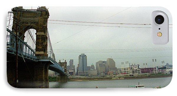 Cincinnati - Roebling Bridge 7 IPhone Case by Frank Romeo