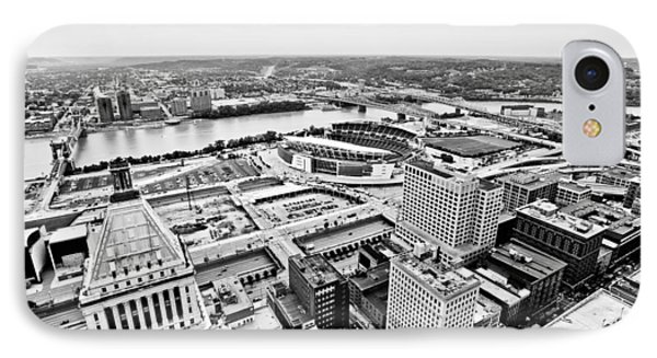 Cincinnati Skyline Aerial Phone Case by Paul Velgos