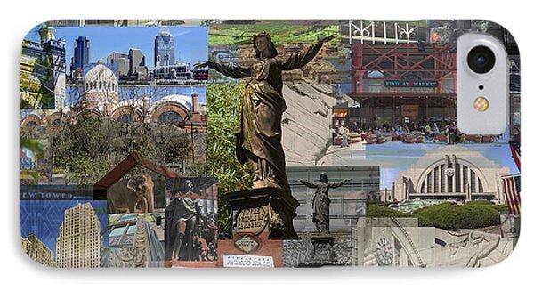 IPhone Case featuring the photograph Cincinnati's Favorite Landmarks by Robert Glover