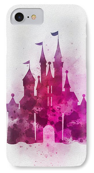 Cinderella Castle Pink IPhone Case by Rebecca Jenkins
