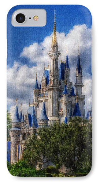 Cinderella Castle Summer Day IPhone Case by Sandy MacGowan