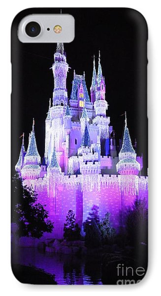 Cinderella's Holiday Castle IPhone Case by John Black