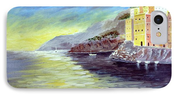 IPhone Case featuring the painting Cinque Terre Dreams by Larry Cirigliano