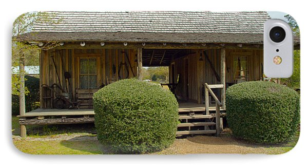 Circa 1900 Dogtrot Cabin Of Ephriam Brown From Lake Mills Florida Phone Case by Allan  Hughes
