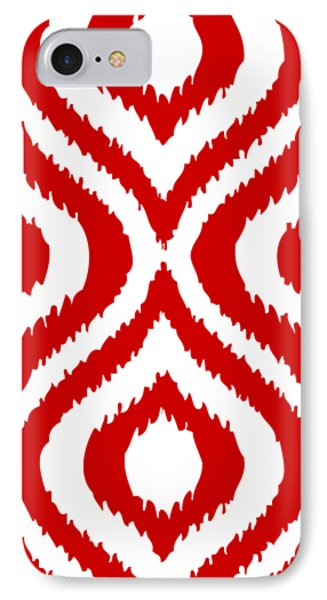Circle And Oval Ikat In White T02-p0100 IPhone 7 Case