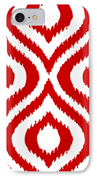 Circle And Oval Ikat In White T02-p0100 IPhone 7 Case by Custom Home Fashions