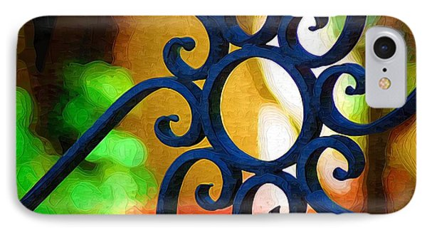 Circle Design On Iron Gate IPhone Case by Donna Bentley