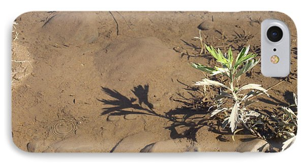 IPhone Case featuring the photograph Circle Shadow Plant by Marie Neder