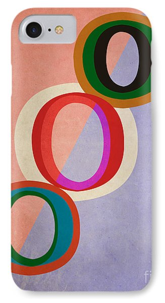 Circles Abstract IPhone Case by Edward Fielding