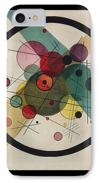 Circles In A Circle IPhone Case by Wassily Kandinsky
