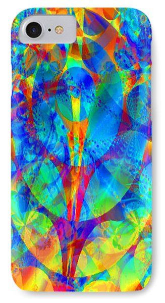 IPhone Case featuring the digital art Circles Of Life by Charmaine Zoe