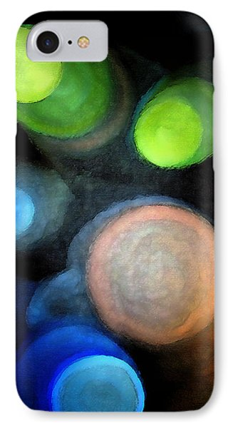 Circles Of Light IPhone Case by Saad Hasnain